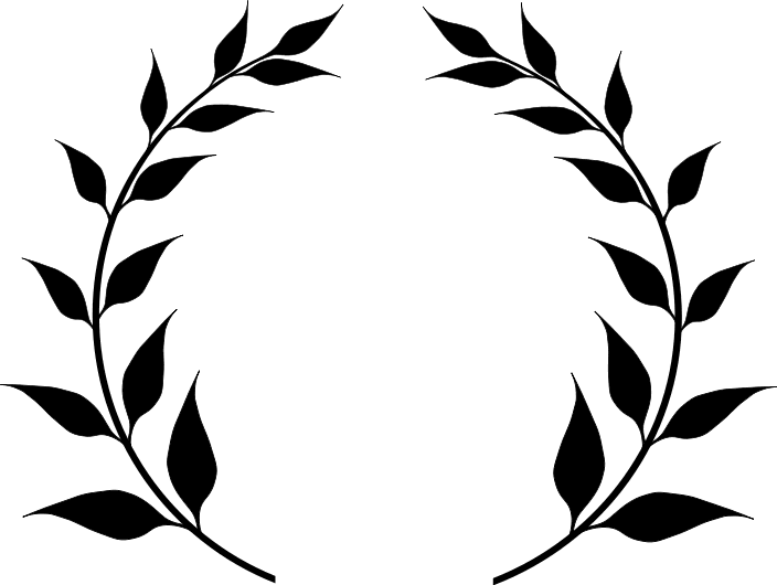 Search terms black and white clipart laurel wreath