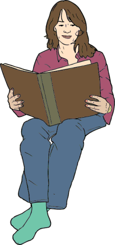 Free Reading Book Clipart