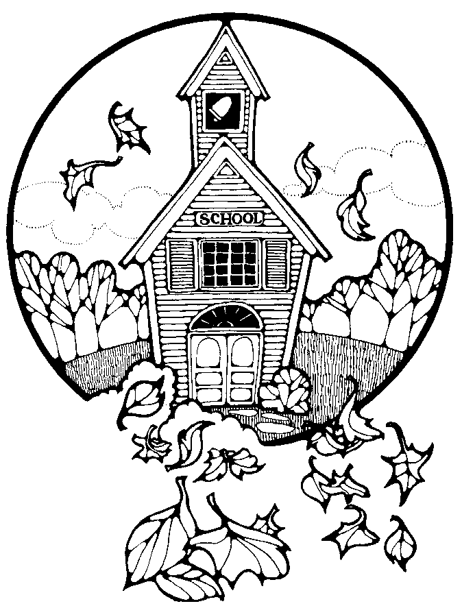 clip art school house