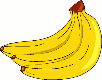 Banana food. Free clipart picture of
