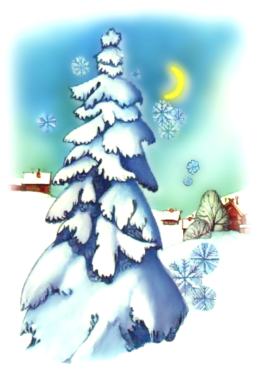 Clipart of a wintery scene of a tree covered in snow. , Click here to get more Free Clipart at ClipartPal.com