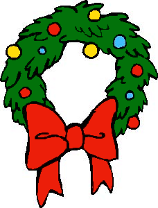 ... christmas wreath, animals, bow, bows, cat, dog, hat, wreath, wreaths