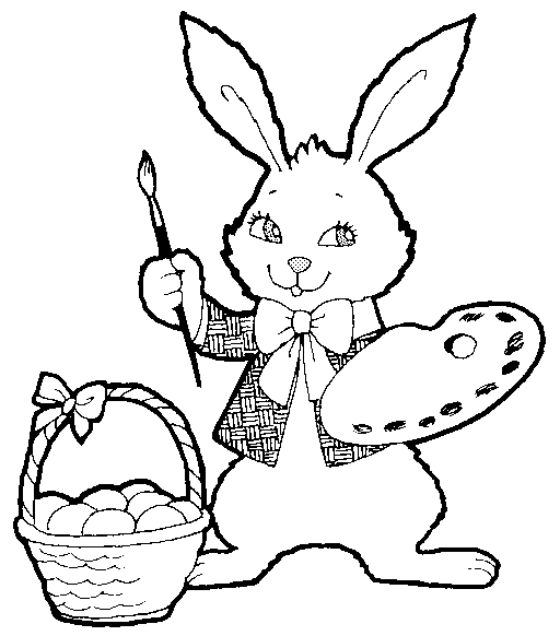 Free Black and White Easter Clipart - Public Domain Holiday/Easter ...