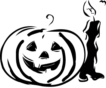 Free Black And White Halloween Clipart - Public Domain Halloween ...