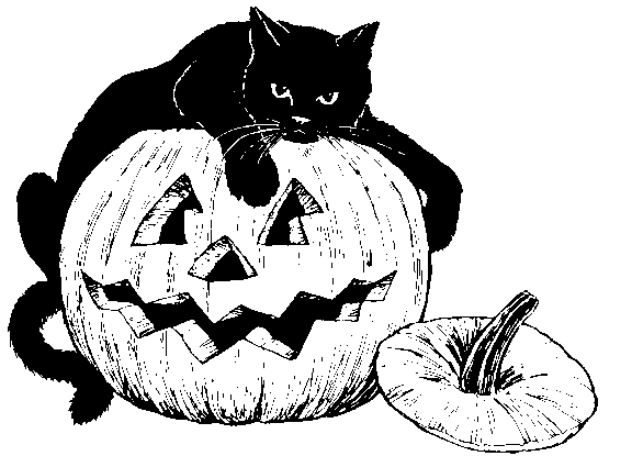 Cat Clipart Halloween Black Tattoo Pumpkin Clip Art
