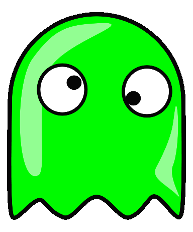 green eyes clipart. google eyed, green ghost,