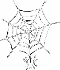 Free Spider Web Clipart