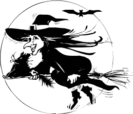 Free Black And White Halloween Clipart