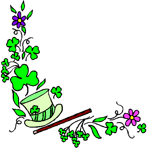 Free St Patricks Day Borders Clipart