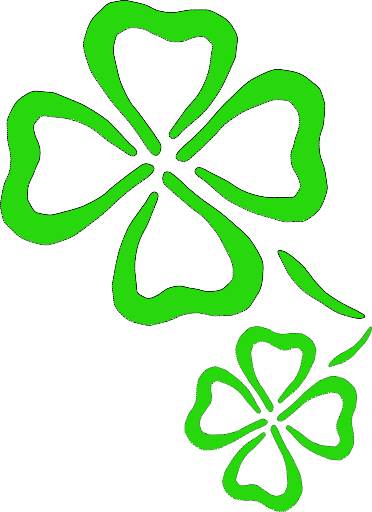 search terms clovers four leaf four leaf outline saint patrick