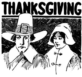 Free Pilgrim Couple Clipart