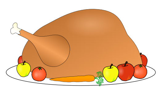 Free Turkey Platter Clipart