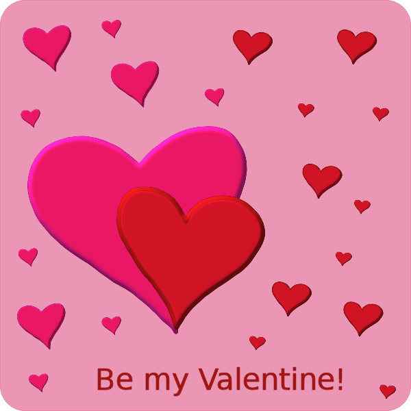 Free Valentine Card Clipart 1 page of Public Domain Clip Art – Saint Valentine Card