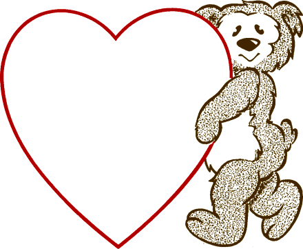 Free Valentine Bears Clipart, 1 page of Public Domain Clip Art