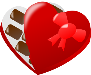 Free Valentine Chocolate Clipart, 1 page of Public Domain Clip Art