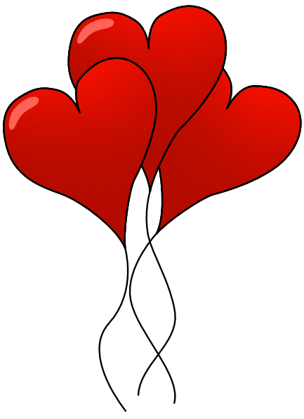 Free Valentine Hearts Clipart, 5 pages of Public Domain Clip Art