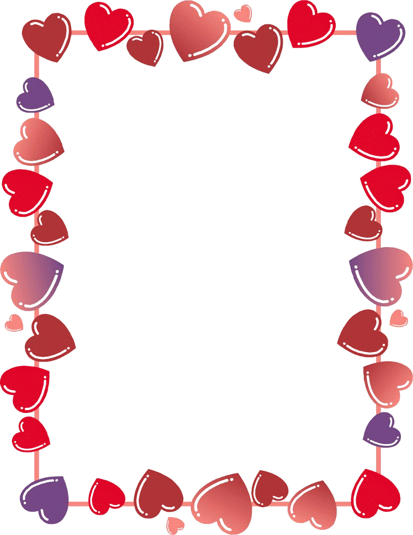 free valentine borders clipart 1 page of public domain clip art