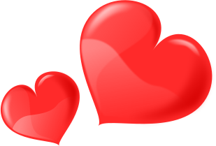 Free Two Hearts Clipart