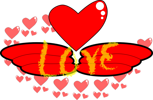 Free Love Words Clipart