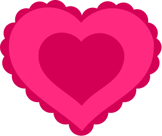 Free Lacy Hearts Clipart