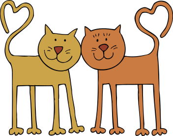Free Valentine Cat Clipart, 1 page of Public Domain Clip Art