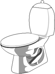free bathroom clipart, 3 pages of public domain clip art