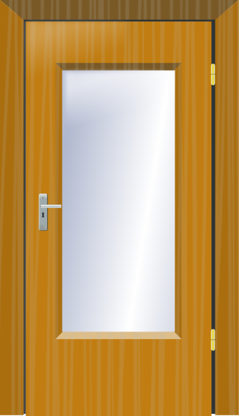 Free Wooden Door Clipart