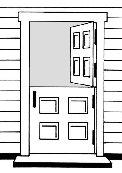 Doors Coloring Pages Dutch Door Coloring Page