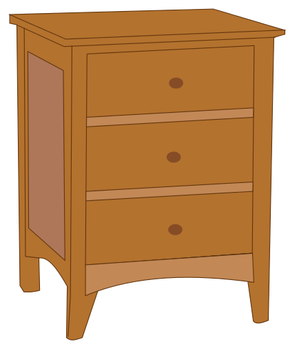 Nightstands with Drawers Clip Art