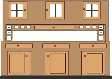 free kitchen cupboard clipart, 1 page of public domain clip art