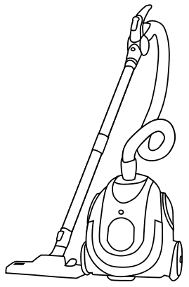 Free Canister Vacuum Cleaner Clipart