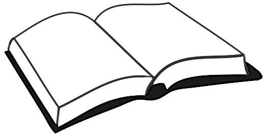 Free books clipart for Open bible coloring page