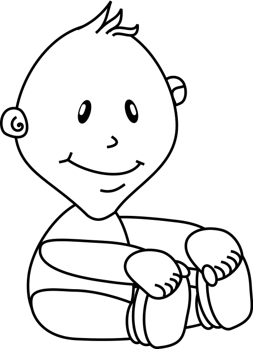 Free Baby Coloring Pages Clipart, 1 page of Public Domain ...