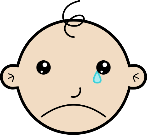 Free Crying Baby Clipart