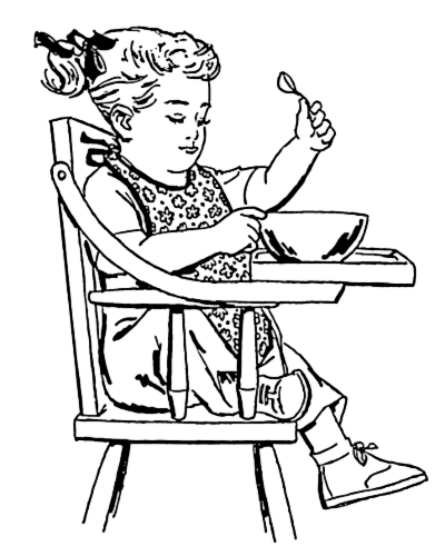 Free Highchair Clipart