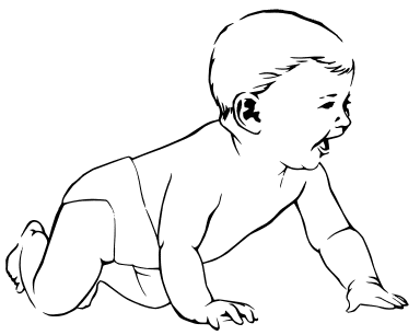 Free Baby Coloring Pages Clipart - Clipart Picture 4 of 14