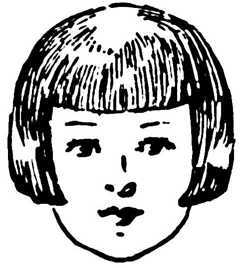 Free Vintage Hairstyle Clipart