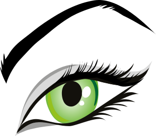Free Colored Eyeball Clipart