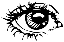 Free Eye Coloring Page Clipart