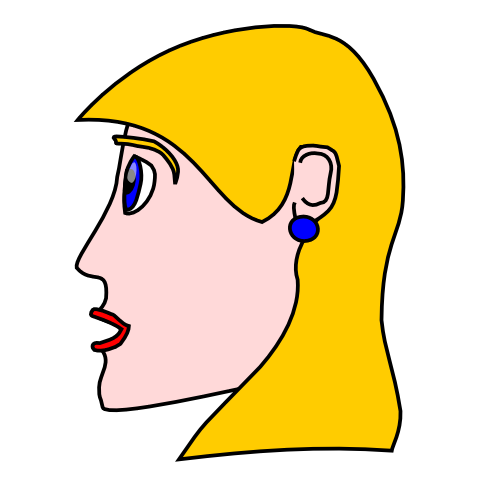 Free Womans Head Clipart