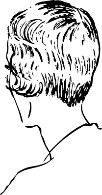 Free Womans Haircut Clipart