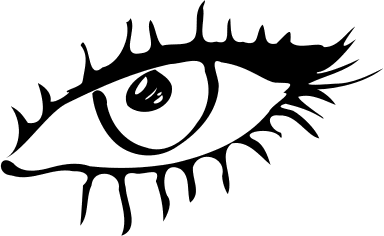 Free Black and White Eye Clipart