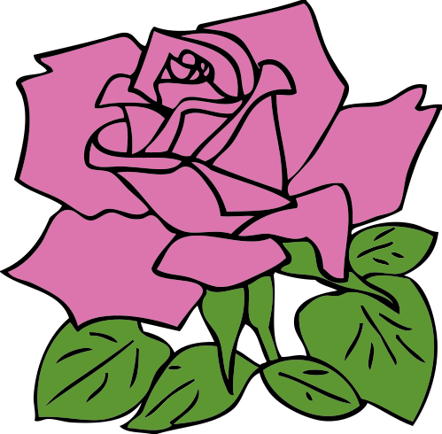 pink flower clip art free. Free Rose Clipart