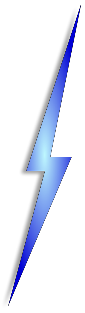 Blue Lighting Bolt