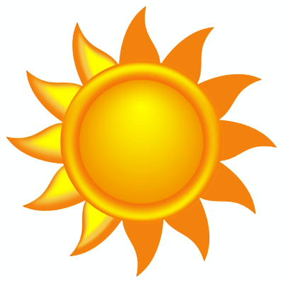Clipart of a decorative sun, Click here to get more Free Clipart at ClipartPal.com
