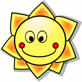 Clip art of a happy sun face, Click here to get more Free Clipart at ClipartPal.com