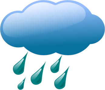 Clip art of a blue raincloud and blue rain drops, Click here to get more Free Clipart at ClipartPal.com