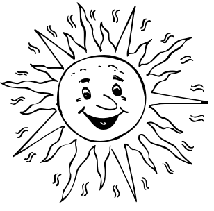 Sunny Weather Symbol Black And White
