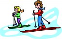 Skiing Clipart
