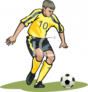 Royalty Free Clipart of Football Badminton Player Png